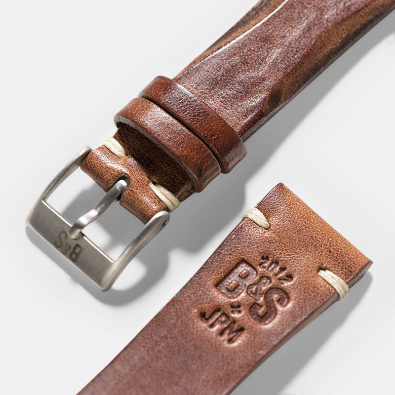 Siena Brown Blade Leather Watch Strap