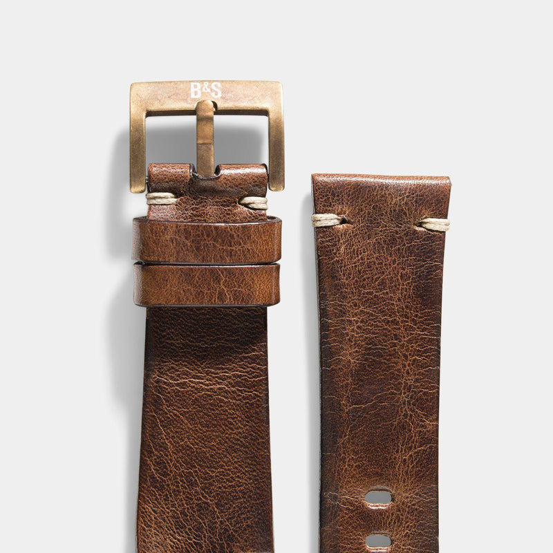 Bronze Perfect Match Siena Leather Watch Strap