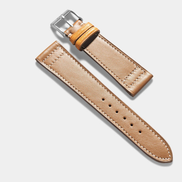 Taupe Brown Retro Leather Watch Strap