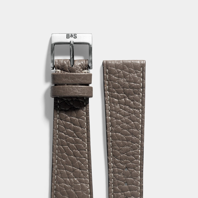 Taurillon Loutre Grey Leather Watch Strap