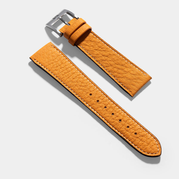 Taurillon Moutarde Leather Watch Strap