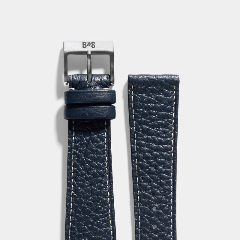 Taurillon Nocturne Blue Leather Watch Strap