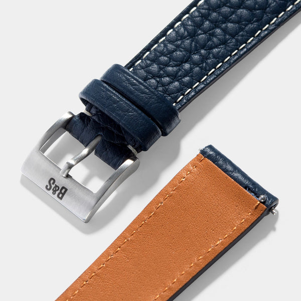 Taurillon Nocturne Blue Leather Watch Strap Change It