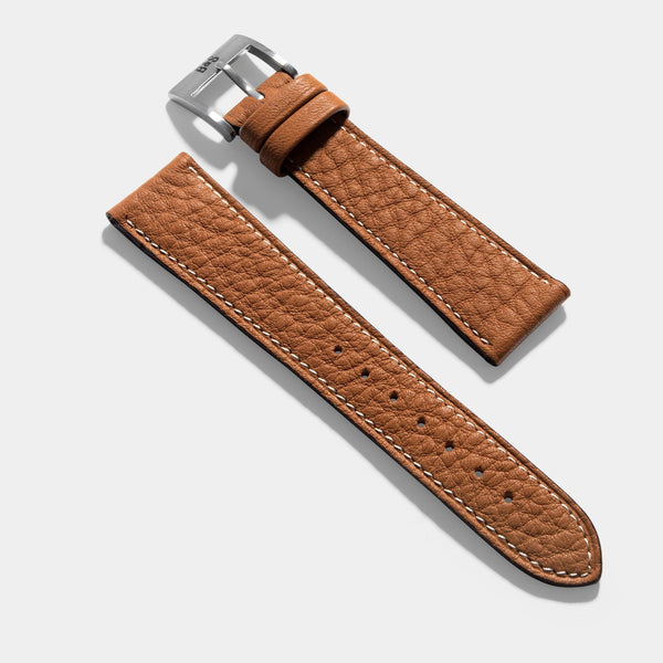 Taurillon Noisette Brown Leather Watch Strap