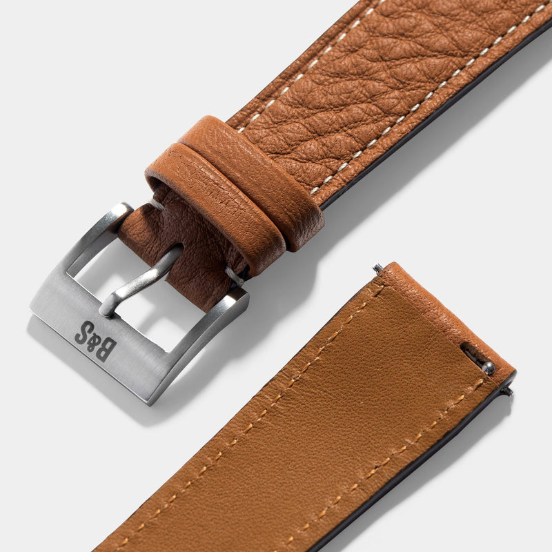 Taurillon Noisette Brown Leather Watch Strap Change it