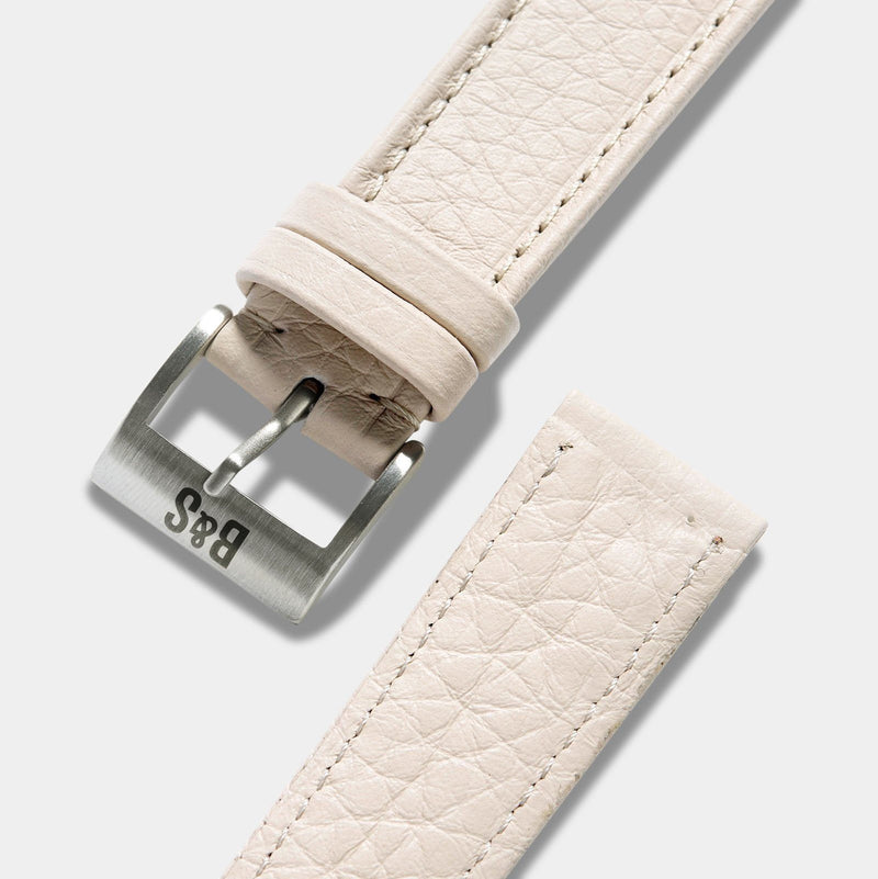 Taurillon Creme Heritage Leather Watch Strap