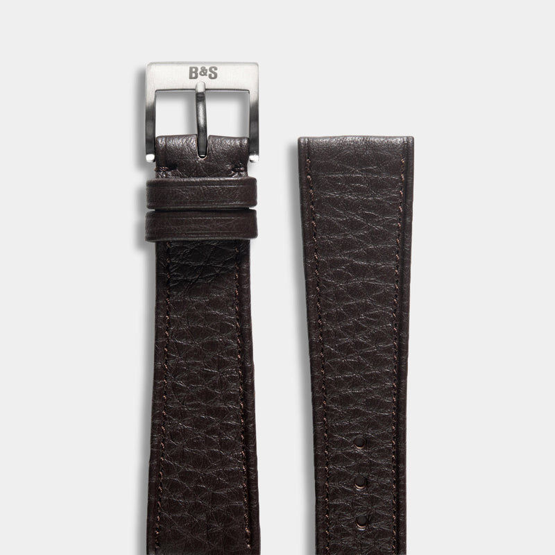 Taurillon Dark Brown Speedy Leather Watch Strap