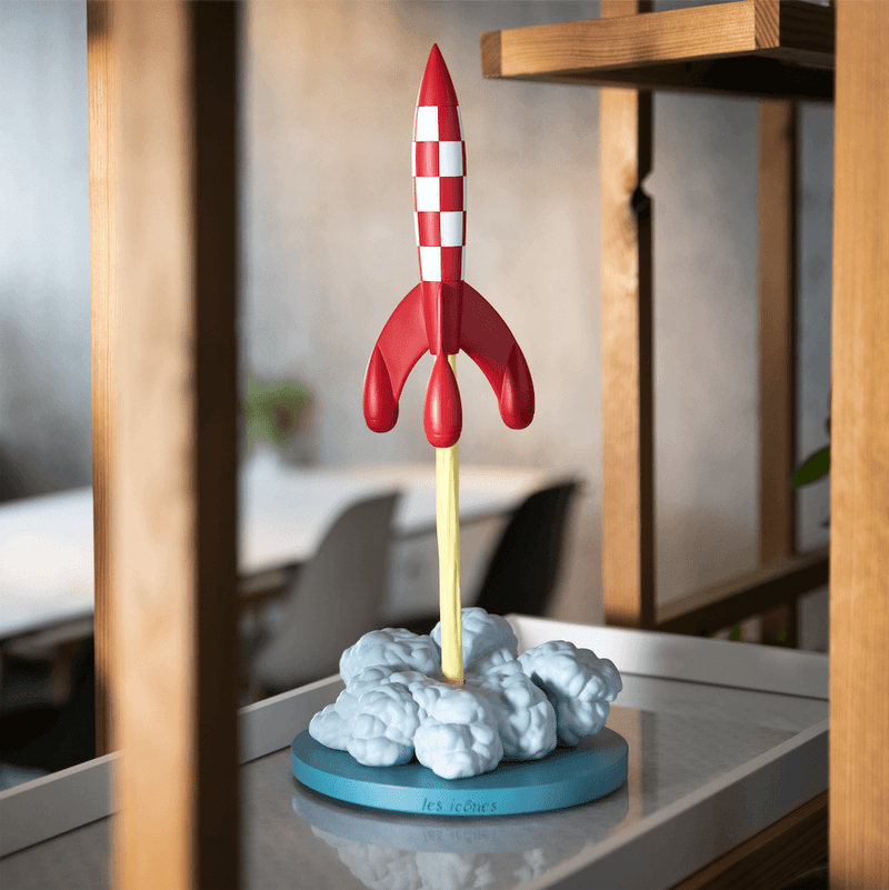 The Adventures of Tintin Rocket Taking Off Numbered Edition
