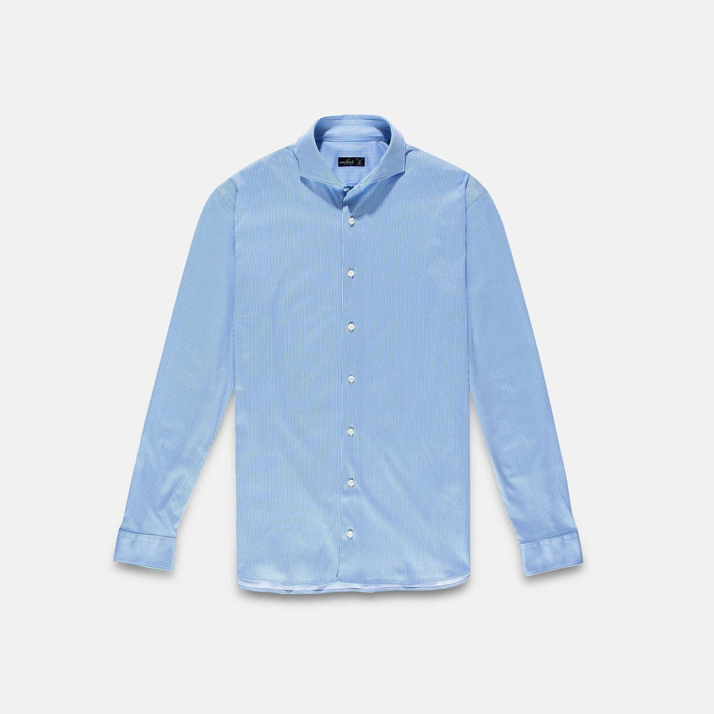 Van Laack Meisterwerk Jersey Shirt Blue Striped