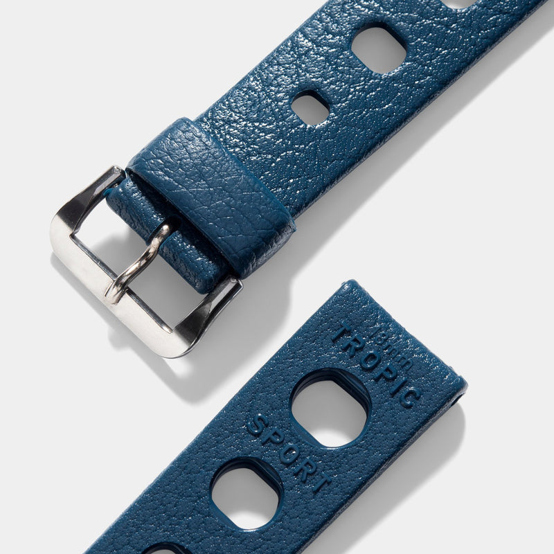Vintage NOS Swiss Tropic Sport Dark Blue Rubber Watch Strap