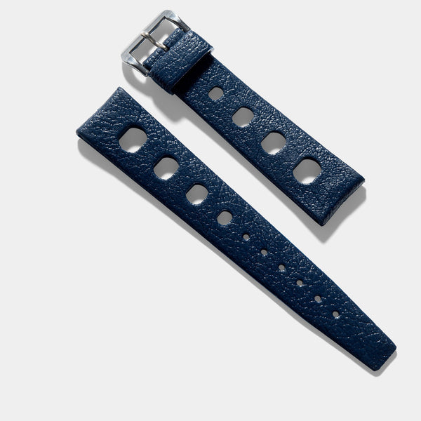 Vintage NOS Swiss Tropic Sport Midnight Blue Rubber Watch Strap