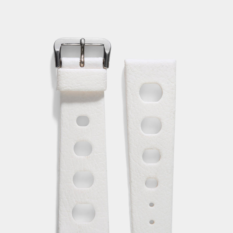 Vintage NOS Swiss Tropic Sport White Rubber Watch Strap