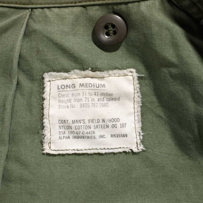 Vintage 1967 Air Force 3M M-65 Field Jacket