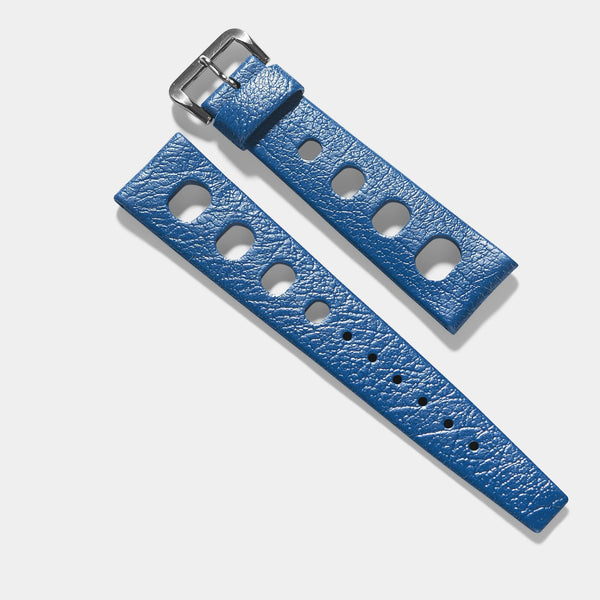Vintage NOS Swiss Tropic Sport Blue Rubber Watch Strap