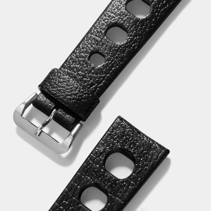 Vintage NOS Swiss Tropic Sport Black Rubber Watch Strap