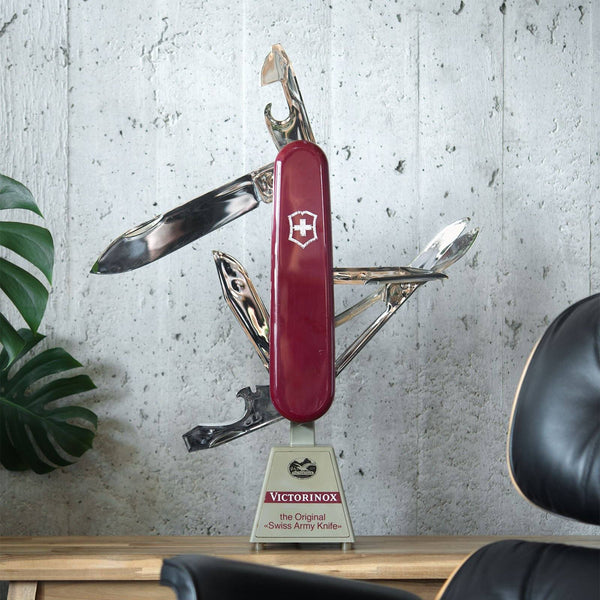 Vintage Oversized Victorinox Moving Knife Retail Display