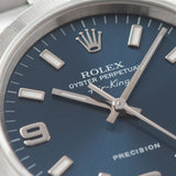 2003 Rolex Air King Reference 14010 Blue Explorer Dial fresh looking