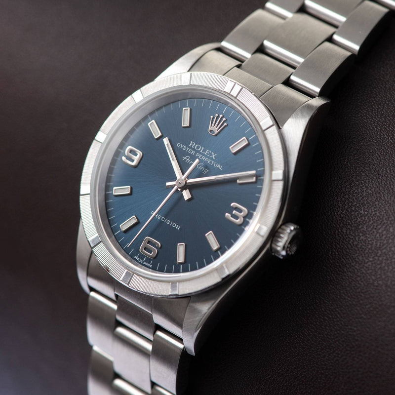 Rolex Air King Reference 14010 Blue Explorer Dial on Oyster Bracelet