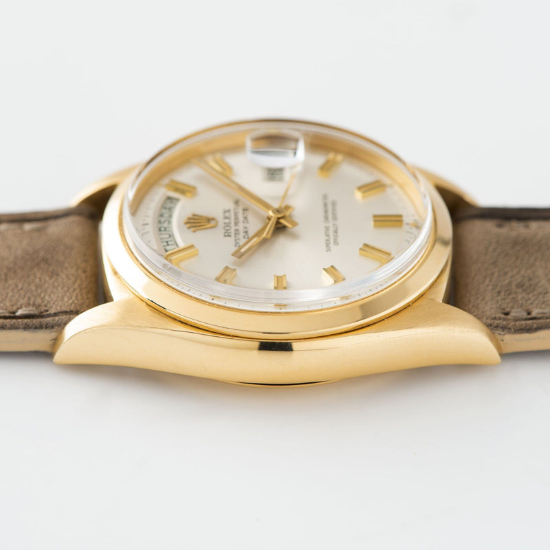 Rolex Day-Date Yellow Gold Wide Boy Dial 1802 Gold Case images