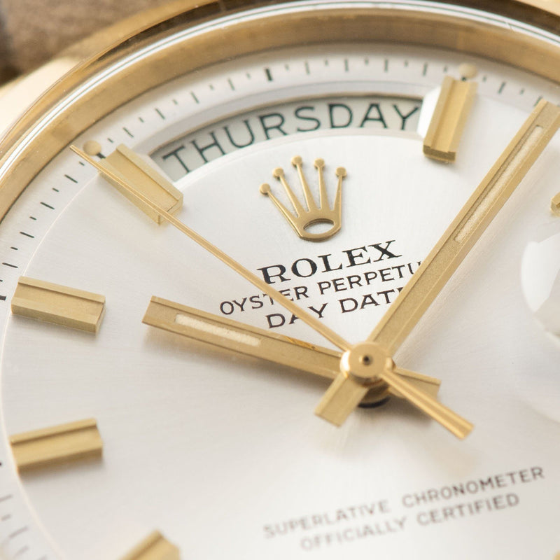 Champagne color Rolex Day-Date Yellow Gold Wide Boy Dial 1802