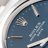 Rolex OP Date Reference 1500 Blue Dial with with crisp white text