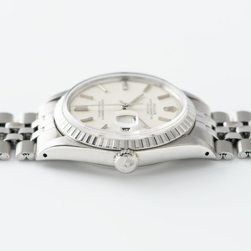 Rolex Datejust White Sigma Dial 1603 with crisp fluted bezel