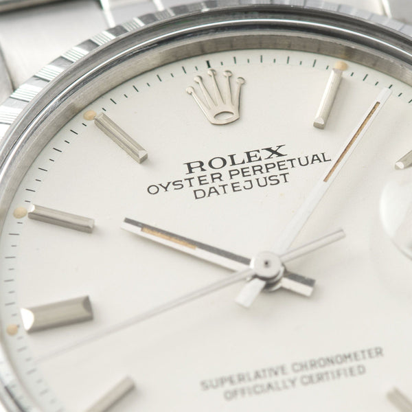 Rolex Datejust White Sigma Dial 1603 with White 'Polar' Sigma Dial