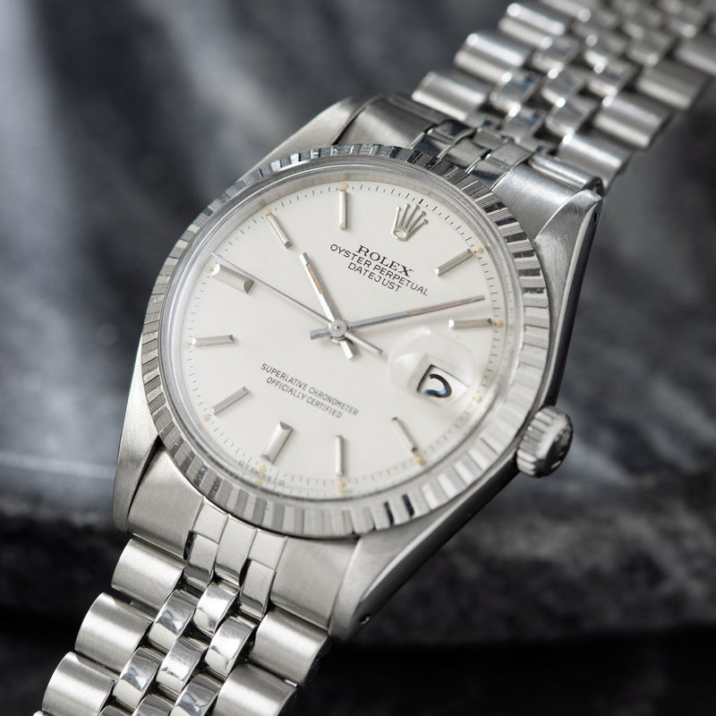 Rolex Datejust White Sigma Dial 1603 dating to 1978
