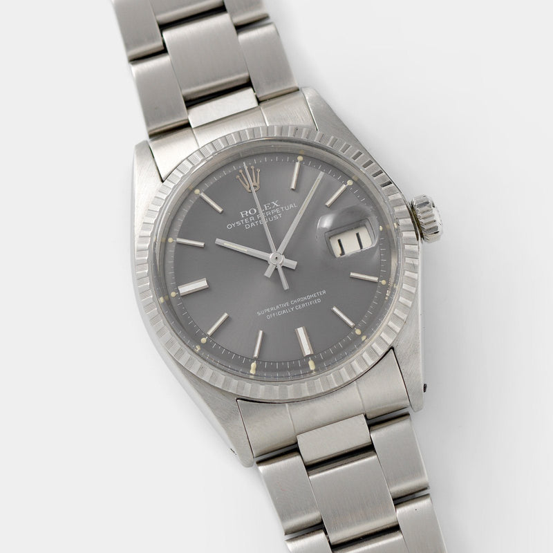 Rolex Datejust 1603 Grey Pie Pan Dial 36mm steel case