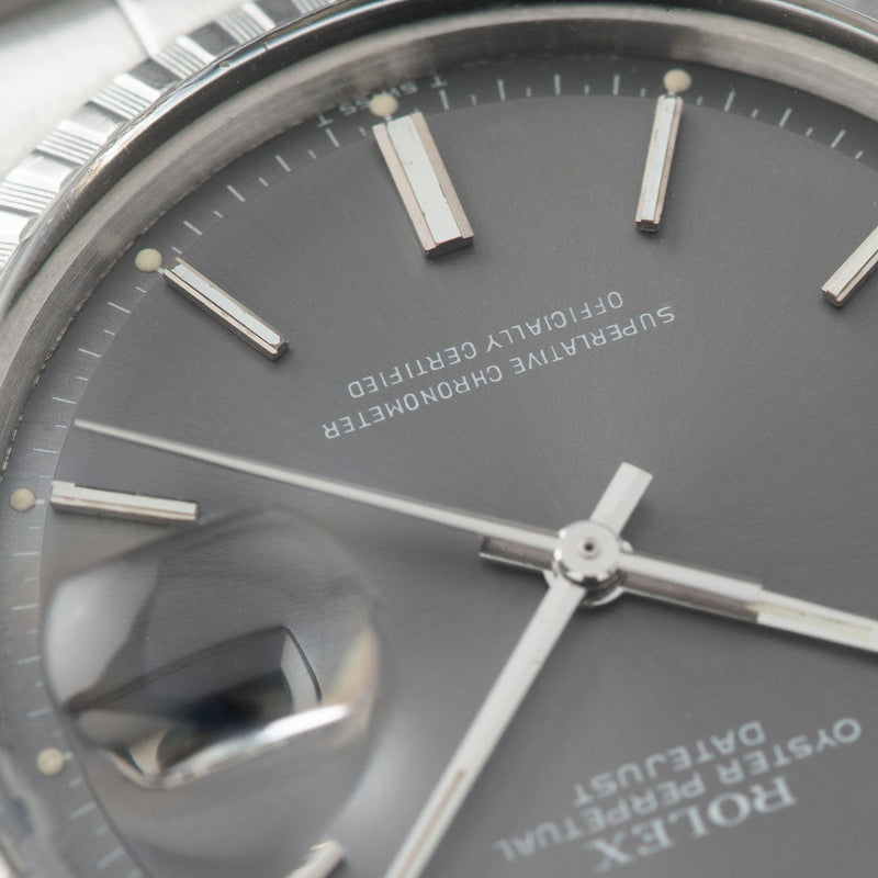 Rolex Datejust 1603 Grey Pie Pan Dial