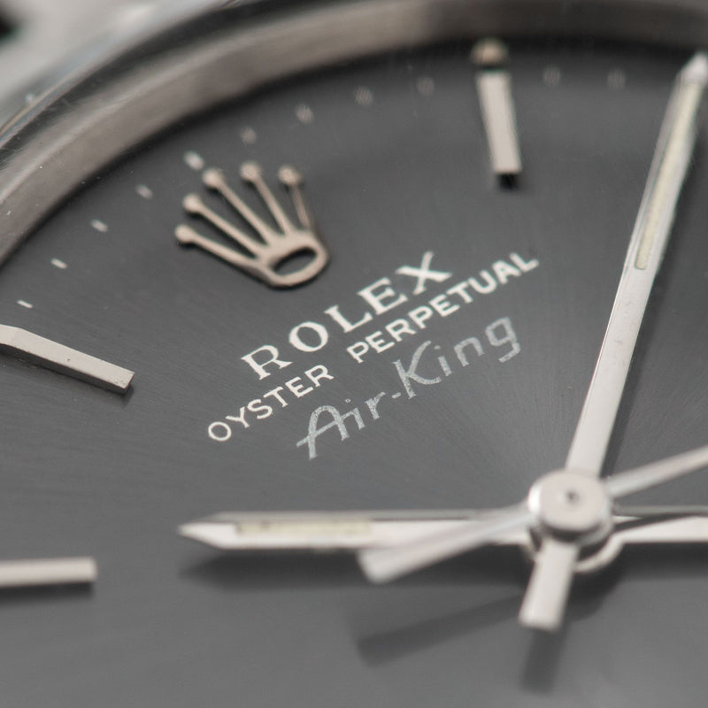 Rolex Air King Ref 5500 Grey Soleil Dial