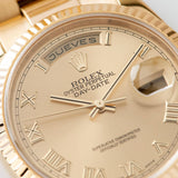 Rolex Day-Date Champagne Roman Dial 118238