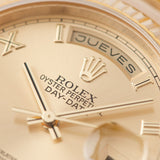 Rolex Day-Date Champagne Roman Dial 118238 with Spanish Day disc