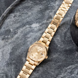 Rolex Day-Date Champagne Roman Dial 118238 with Yellow gold Oyster bracelet