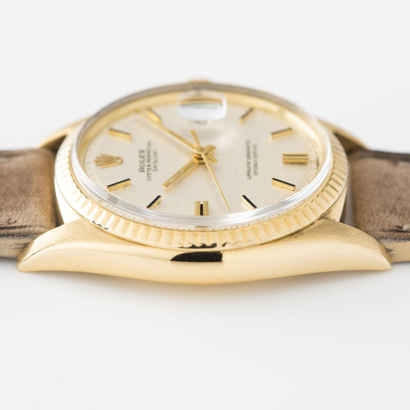 Rolex Datejust Yellow Gold 1601 Linen Dial