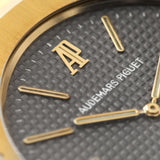 Audemars Piguet Jumbo Royal Oak Yellow Gold 5402 Box and Papers with applied AP logo at 12 o'clock