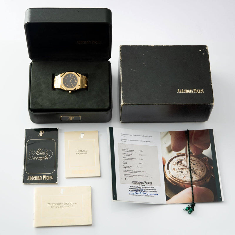 Audemars Piguet Jumbo Royal Oak Yellow Gold 5402 Box and Papers with Box, guarantee, certificate and booklet