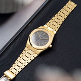Audemars Piguet Jumbo Royal Oak Yellow Gold 5402 Box and Papers with Tight yellow gold integrated bracelet