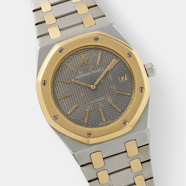 Audemars Piguet Jumbo Royal Oak Steel and  Gold ref.5402SA Grey Dial with cool patina