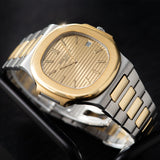 Patek Philippe Jumbo Nautilus Ref 3700 Steel and Gold with OG Paper