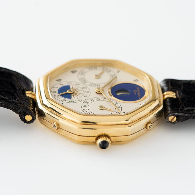 "Gerald Genta ""Succes ""Day Date Moon Phase Ref 2747 31mm yellow 18k gold case"