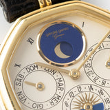 "Gerald Genta ""Succes ""Day Date Moon Phase Ref 2747 Cream dial with moon phase cut out"