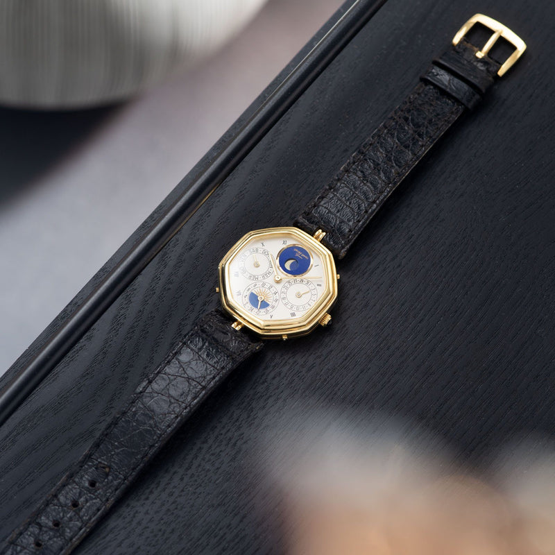 "Gerald Genta ""Succes ""Day Date Moon Phase Ref 2747 with Original leather strap"