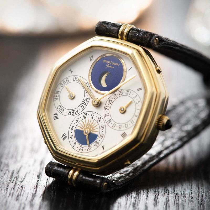 "Gerald Genta ""Succes ""Day Date Moon Phase Ref 2747"