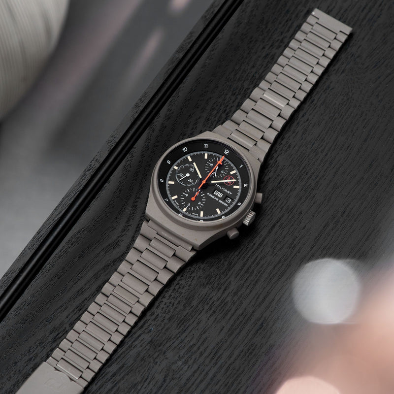 Porsche Design by Orfina 'Military' Chronograph Reference 7177 with Fitted with green PVD bracelet