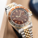 Rolex 16753 Nipple Dial Rootbeer GMT-Master with faded two-tone bezel insert