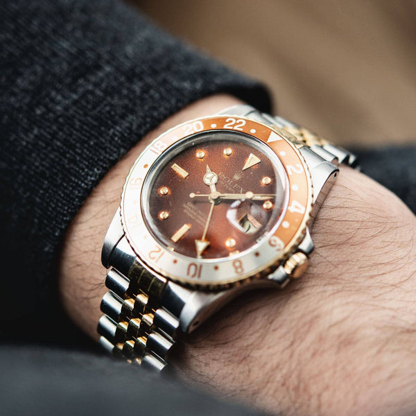 Rolex 16753 Nipple Dial Rootbeer GMT-Master