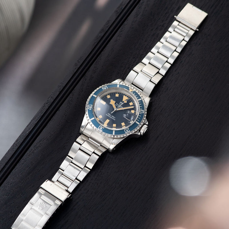 Tudor Submariner Date Blue Snowflake 9411/0 with Rolex 9315 bracelet with 380 endlinks