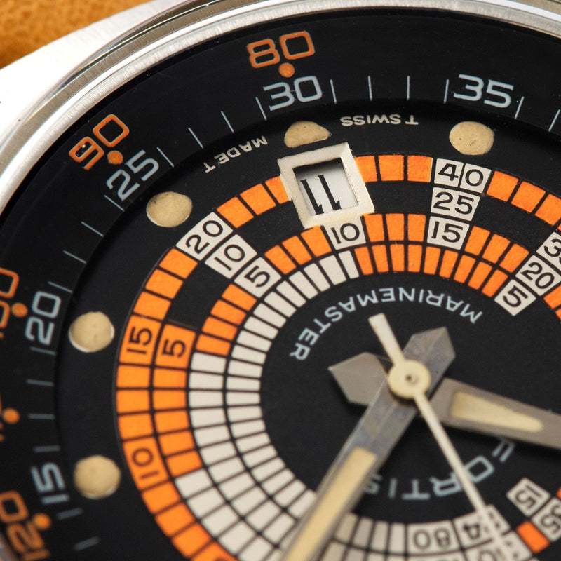 Fortis Marinestar Super Compressor Reference 6237 with Funky black and orange dial