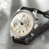 Doxa Multi Scale Steel Spillman Case Chronograph  Dates to the 1940s